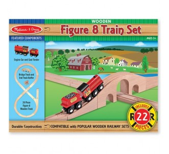 MELISSA & DOUG Figure 8 Train Set
