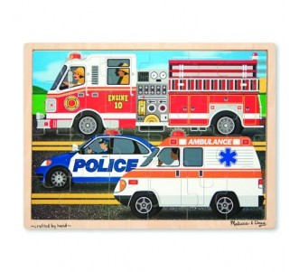MELISSA & DOUG To the Rescue Wooden Jigsaw Puzzle - 24 Pieces