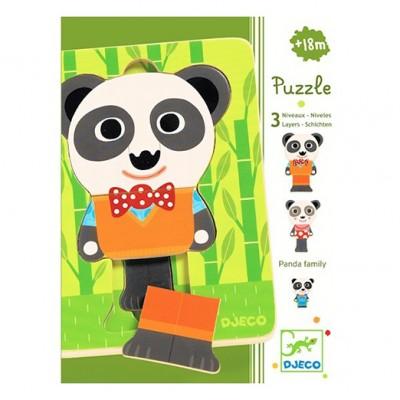 DJECO 3 Layers Puzzle – Panda Family