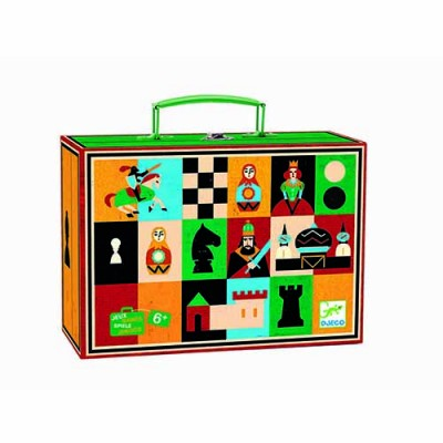 DJECO Chess & Checkers Travel Set
