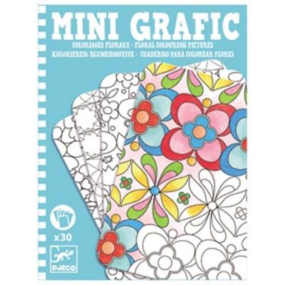 DJECO Floral Colouring Pictures - Mini Graffic