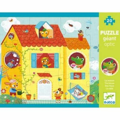 DJECO Giant Optical Puzzle - The House (20pcs)
