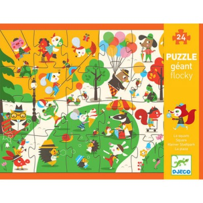DJECO Giant Flocky Puzzle - Square 24pc