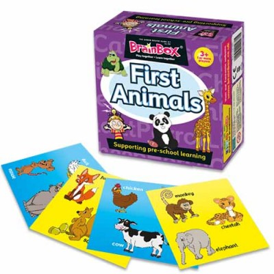 GREEN BOARD GAME CO BrainBox First Animals