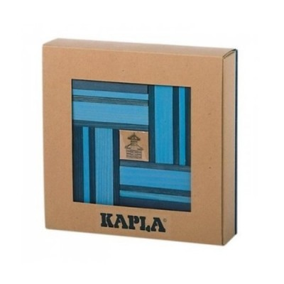 KAPLA 40 Pl. Book Colour Set (Light & Dark Blue)