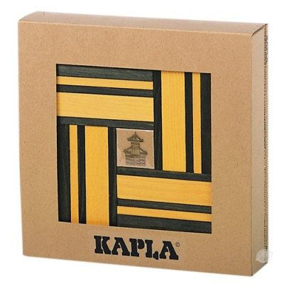 KAPLA 40 Pl. Book Colour Set (Yellow & Green)