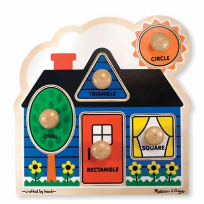 MELISSA & DOUG First Shapes Jumbo Knob