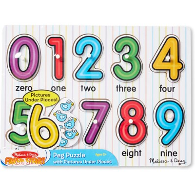 MELISSA & DOUG See Inside Number Peg
