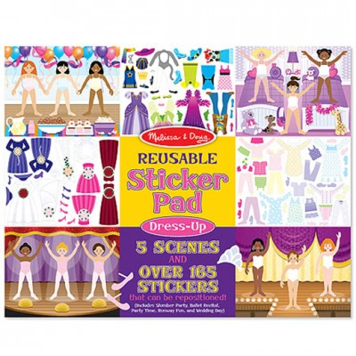 MELISSA & DOUG Reusable Sticker Pad - Fashions