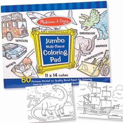 MELISSA & DOUG Jumbo Coloring Pad - Blue