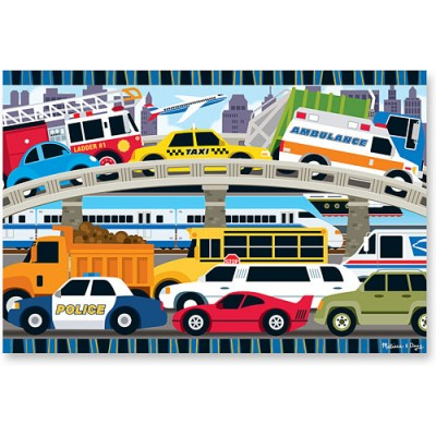 MELISSA & DOUG Traffic Jam Floor Puzzle (24 pc)