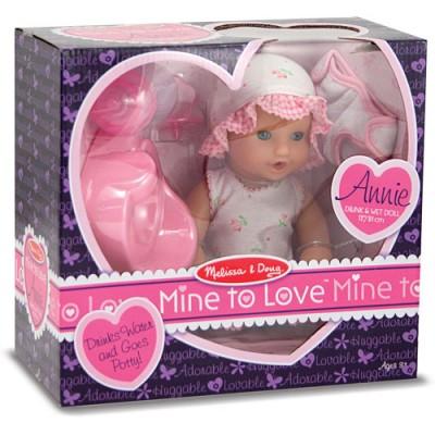 MELISSA & DOUG Mine To Love Annie 12(inch) Drink & Wet Doll