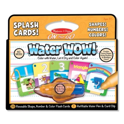 MELISSA & DOUG Water Wow! Splash Cards! Shapes, Numbers & Colors!