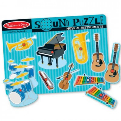 MELISSA & DOUG Musical Instruments Sound Puzzle