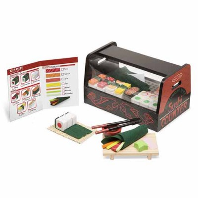 MELISSA & DOUG Roll, Wrap & Slice Sushi Counter