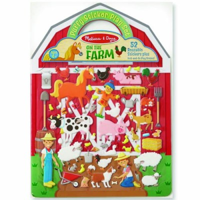 MELISSA & DOUG Puffy Stickers - On The Farm