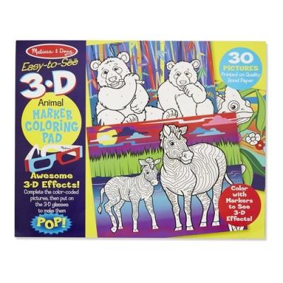 MELISSA & DOUG 3D Colouring Book - Animals