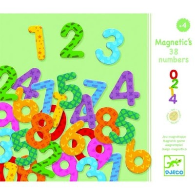 DJECO 38 Numbers - Wooden Magnetic