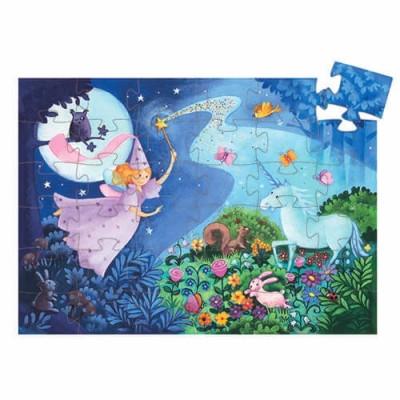 DJECO The Fairy and the Unicorn 36pcs Silhouette Puzzle