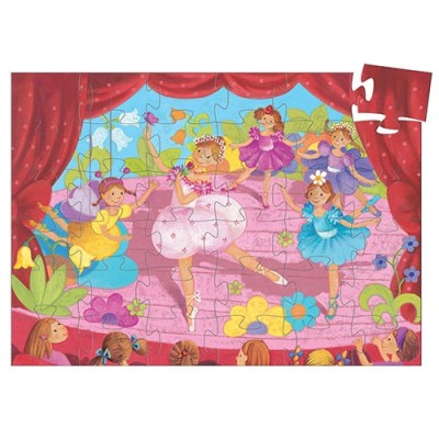DJECO The Ballerina With The Flower 36pcs Silhouette Puzzle