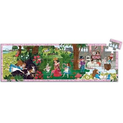DJECO Alice in Wonderland 50pcs Silhouette Puzzle