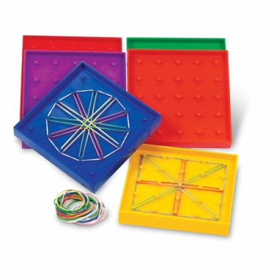 LEARNING RESOURCES Geoboards, 5 x 5 Pin (Set of 10)