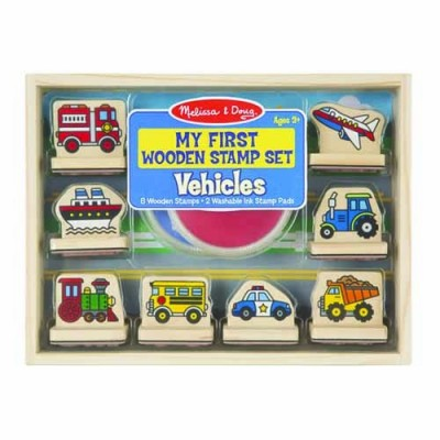 MELISSA & DOUG Vehicles - My First Wooden Stamp Set