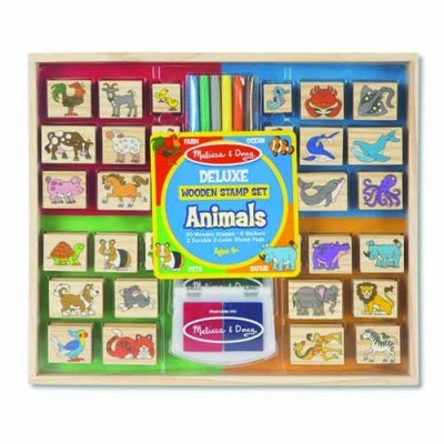 MELISSA & DOUG Animals - Deluxe Wooden Stamp Set