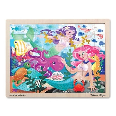 MELISSA & DOUG Mermaid Fantasea Wooden Jigsaw Puzzle - 48 pieces