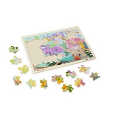MELISSA & DOUG Mermaid Fantasea Wooden Jigsaw Puzzle - 48 pieces