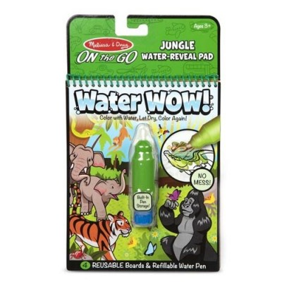 MELISSA & DOUG Water Wow! Jungle Water-Reveal Pad - On the Go Travel Activity