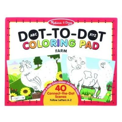 MELISSA & DOUG ABC Dot-to-Dot Coloring Pad- Farm