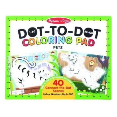 MELISSA & DOUG 123 Dot-to-Dot Coloring Pad- Pets