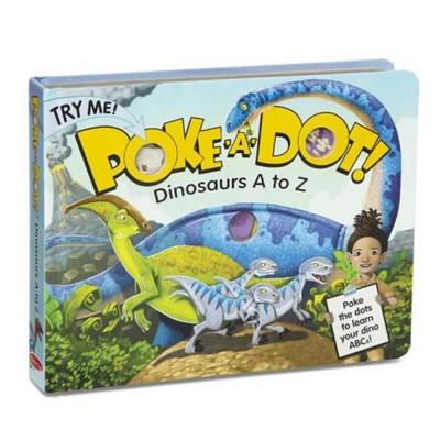 MELISSA & DOUG Poke-a-Dot - Dinosaurs A to Z Board Book
