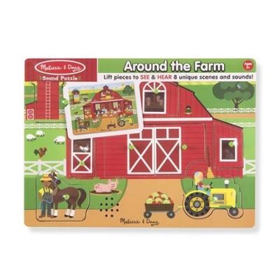 MELISSA & DOUG Around the Farm Sound Puzzle