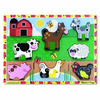 MELISSA & DOUG Farm Chunky Puzzle 8pc