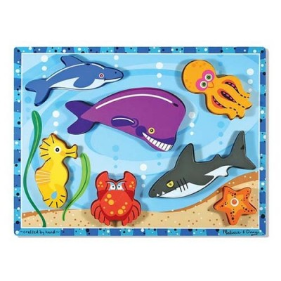 MELISSA & DOUG Sea Creatures Chunky Puzzle - 7 Pieces