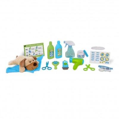 MELISSA & DOUG Wash & Trim Dog Groomer Play Set
