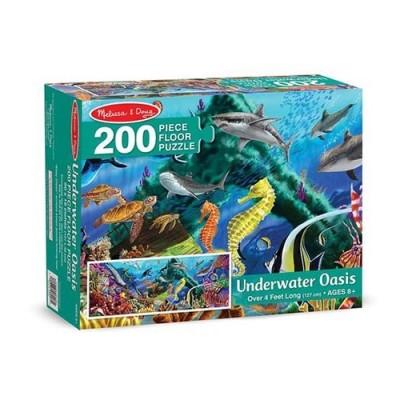 MELISSA & DOUG Underwater Oasis - 200-Piece Floor Puzzle