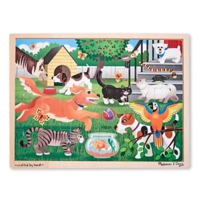 MELISSA & DOUG Pets Wooden Jigsaw Puzzle - 24 Pieces