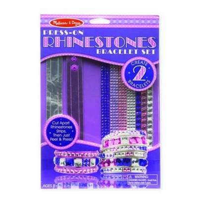 MELISSA & DOUG Press-On Rhinestones Bracelet Set