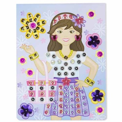 MELISSA & DOUG On-the-Go Crafts - Sequin Art - Fashion