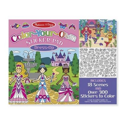 MELISSA & DOUG Colour Your Own Sticker Pad - Dress Up
