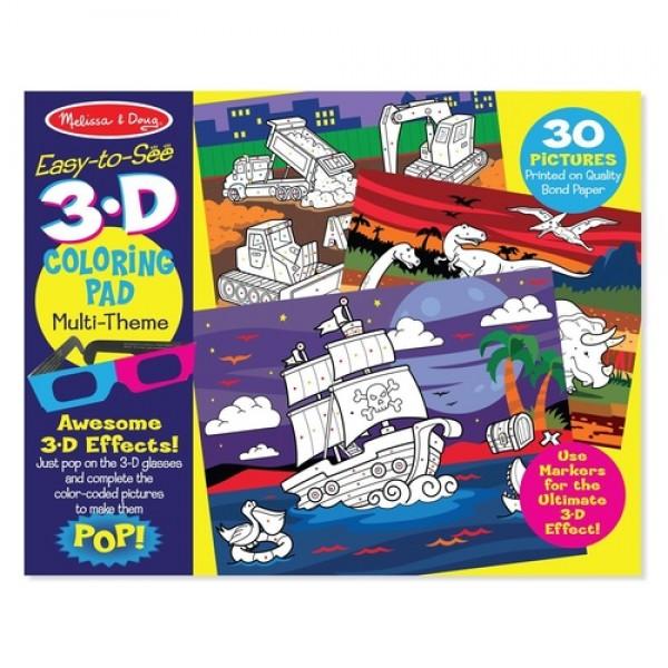 MELISSA & DOUG 3D Colouring Book - Boy